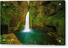 Wahclella Falls Columbia River Gorge Acrylic Print