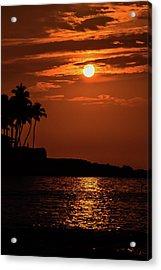 Acrylic Print featuring the photograph Waikoloa Sunset by Pamela Walton