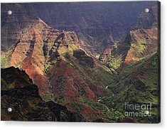 Waimea Canyon Acrylic Print by Neil Doren