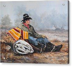 Waitin' On The Boss Acrylic Print by Bob Hallmark