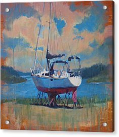 Waiting For The Weekend Acrylic Print by Donna Shortt