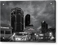 Wake Up Bw Tower Place 100 Buckhead Atlanta Art Acrylic Print by Reid Callaway