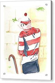 Waldo Finds Himself Acrylic Print by Anshie Kagan