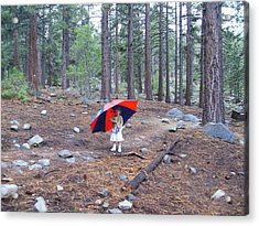 Acrylic Print featuring the photograph Walking In The Rain by Dan Whittemore