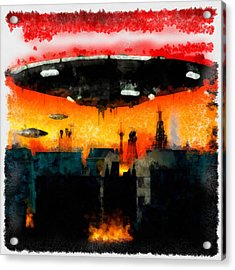 War Of The Worlds Acrylic Print by Esoterica Art Agency