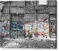 Warehouse In Lisbon Acrylic Print by Ehiji Etomi