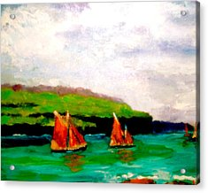 Acrylic Print featuring the painting Warm Afternoon Sailing by Marie Hamby