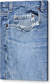 Worn Jeans Acrylic Print by George Robinson