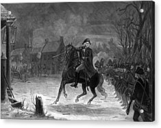 Washington At The Battle Of Trenton Acrylic Print by War Is Hell Store