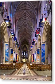 Washington National Cathedral - Washington Dc Acrylic Print by Brendan Reals