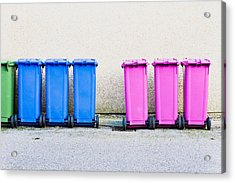 Waste Bins Acrylic Print