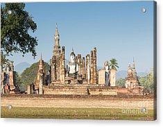 Wat Mahatat, Sukhothai Historical Park, Sukhothai, Thailand Acrylic Print by Roberto Morgenthaler