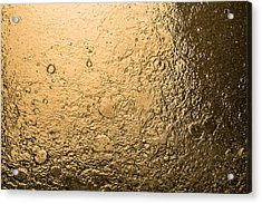 Water Abstraction - Liquid Gold Acrylic Print by Alex Potemkin