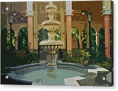 Acrylic Print featuring the digital art Water Fountain In Mexico by Tammy Sutherland