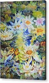 Water Garden Acrylic Print by Ann  Nicholson