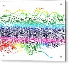 Water Pattern Acrylic Print by Setsiri Silapasuwanchai