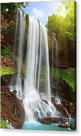 Waterfall Acrylic Print by MotHaiBaPhoto Prints