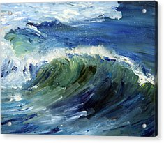 Wave Action Acrylic Print by Michael Helfen