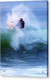 Wave Blaster Acrylic Print by Ron Regalado