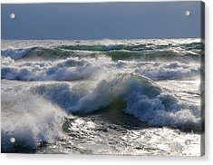 Waves Of Superior Acrylic Print by Sandra Updyke