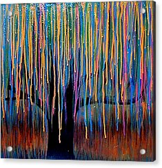 Weeping Willow Acrylic Print by Monica Furlow