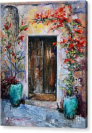 Acrylic Print featuring the painting Welcome by Jennifer Beaudet