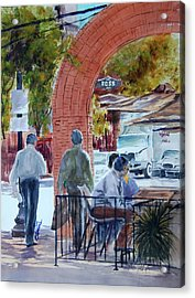 West End Arch At Ross Acrylic Print by Ron Stephens