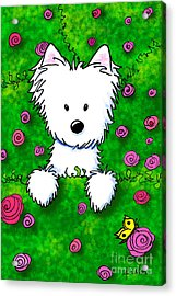 Westie In Roses Acrylic Print