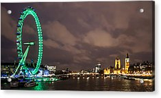 Westminster And The London Eye Acrylic Print by Dawn OConnor