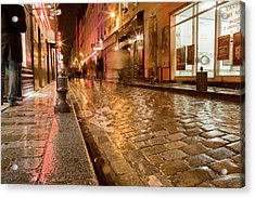 Wet Paris Street Acrylic Print