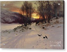 When The West With Evening Glows Acrylic Print by Joseph Farquharson