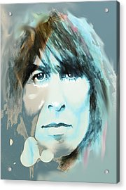 While My Guitar Gently Weeps Acrylic Print by William Walts