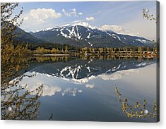 Whistler Blackcomb Green Lake Reflection Acrylic Print by Pierre Leclerc Photography