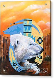 White Bear Goes Southwest Acrylic Print