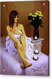 White Comfort Acrylic Print