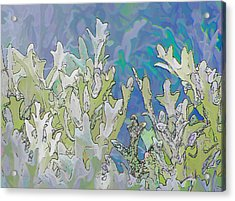 White Forest 4 Acrylic Print by Michael Taggart II