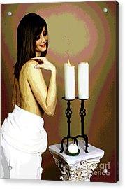 White Glow Acrylic Print