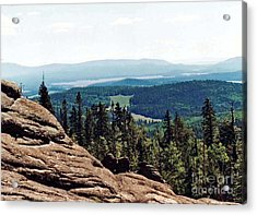 Acrylic Print featuring the photograph White Mountains Of Arizona by Juls Adams