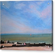 Whitstable Beach Acrylic Print by Paul Mitchell