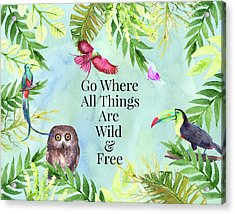 Acrylic Print featuring the digital art Wild And Free by Colleen Taylor