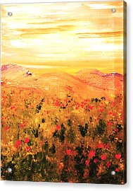 Wild Roses Acrylic Print by Evelina Popilian
