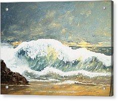 Wild Wave Acrylic Print by Miroslaw  Chelchowski