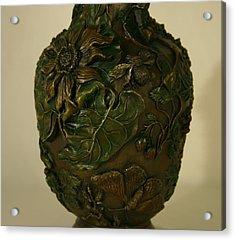 Wildflower Vase Detail Acrylic Print by Dawn Senior-Trask