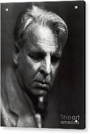 William Butler Yeats Acrylic Print by Photo Researchers