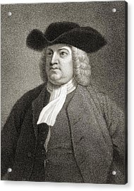 William Penn 1644-1718. English Quaker Acrylic Print by Vintage Design Pics