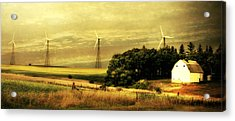Acrylic Print featuring the photograph Wind Turbines by Julie Hamilton