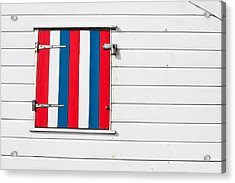 Window Shutter Acrylic Print by Tom Gowanlock
