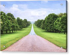 Windsor Castle - Long Walk Acrylic Print by Joana Kruse