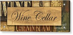 Wine Cellar Collage Acrylic Print by Grace Pullen