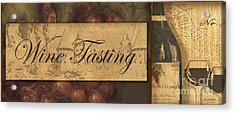 Wine Tasting Collage  Acrylic Print